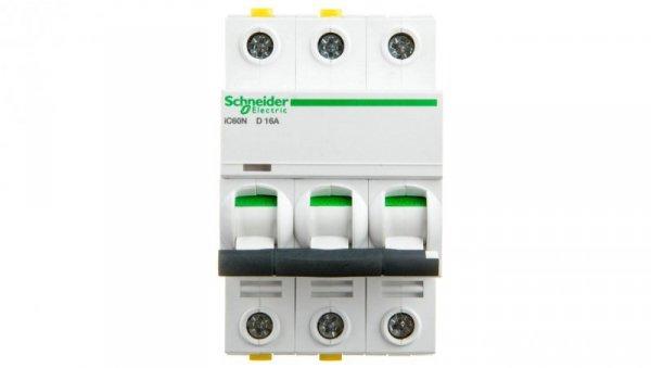 Wyłącznik nadprądowy 3P D 16A 6kA AC iC60N-D16-3 A9F05316