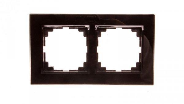 Sentia Ramka podwójna szklana czarna 1472-61