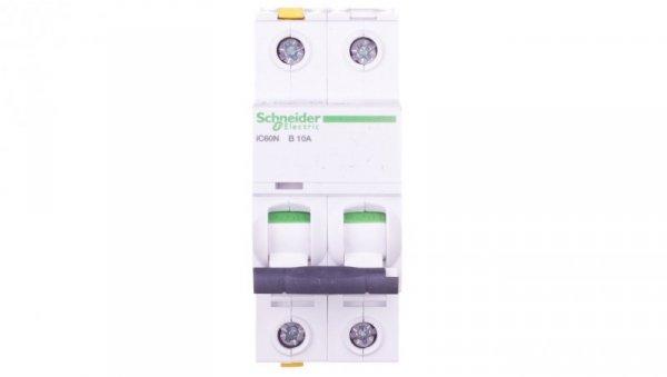 Wyłącznik nadprądowy 2P B 10A 6kA AC iC60N-B10-2 A9F03210