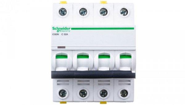 Wyłącznik nadprądowy 4P C 32A 6kA AC iC60N-C32-4 A9F04432