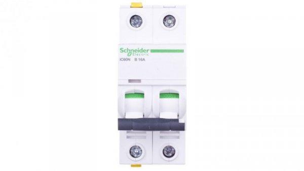 Wyłącznik nadprądowy 2P B 16A 6kA AC iC60N-B16-2 A9F03216