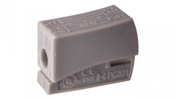 Szybkozłączka 1x0,5-2,5mm2 jasnoszary PC301-CL 89006002 /100szt./
