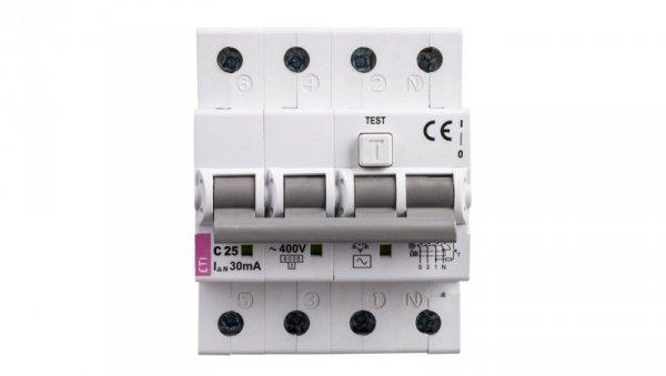 Wyłącznik różnicowo-nadprądowy 4P 25A C 0,03A typ AC KZS-4M 002174026