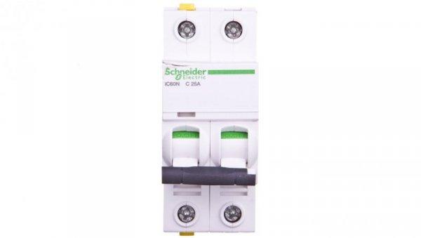 Wyłącznik nadprądowy 2P C 25A 6kA AC iC60N-C25-2 A9F04225