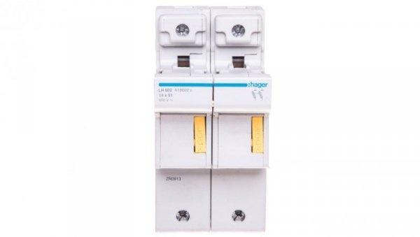 Rozłącznik bezpiecznikowy cylindryczny 2P 14x51mm LR602