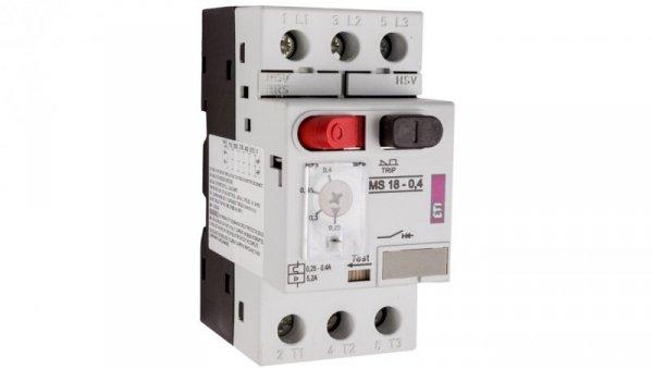 Wyłącznik silnikowy 3P 0,09kW 0,25-0,4A MS18 004600342