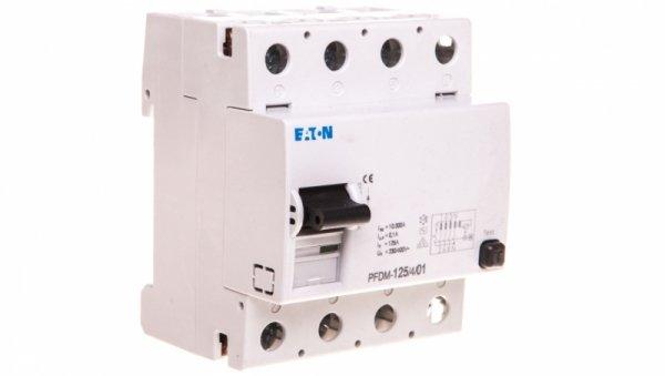 Wyłącznik różnicowoprądowy 4P 125A 0,1A typ AC PFDM-125/4/01 235917