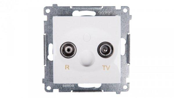 Simon 54 Gniazdo antenowe RD/TV przelotowe białe DAP10.01/11