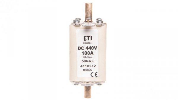 Wkładka bezpiecznikowa NH00 100A 440V DC WT-00 004110212