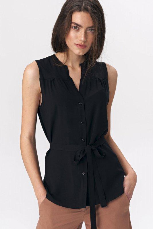 Urocza bluzka bez rękawów B108 Black - Nife