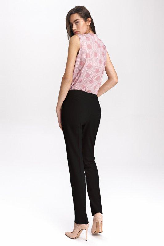 Czarne klasyczne spodnie damskie SD39 Black - Nife