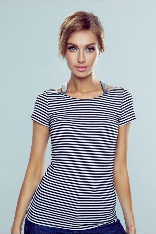 Bluzka Model Meg Paski White/Black - Eldar
