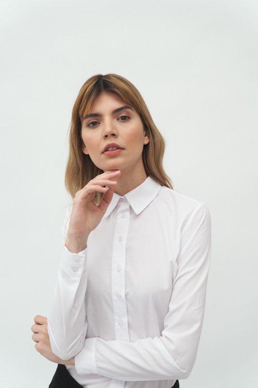 Klasyczna biała koszula K58 White - Nife
