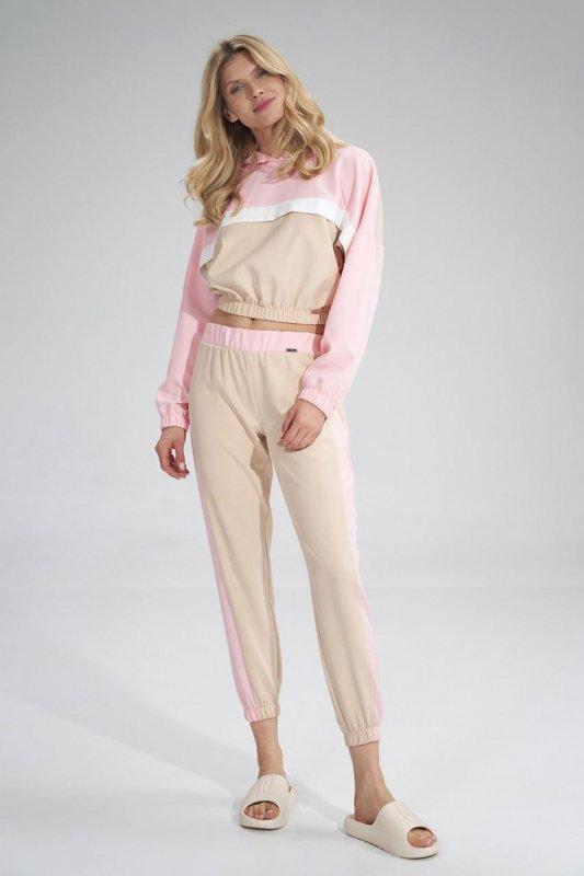Spodnie Damskie Model M756 Beige/Pink - Figl