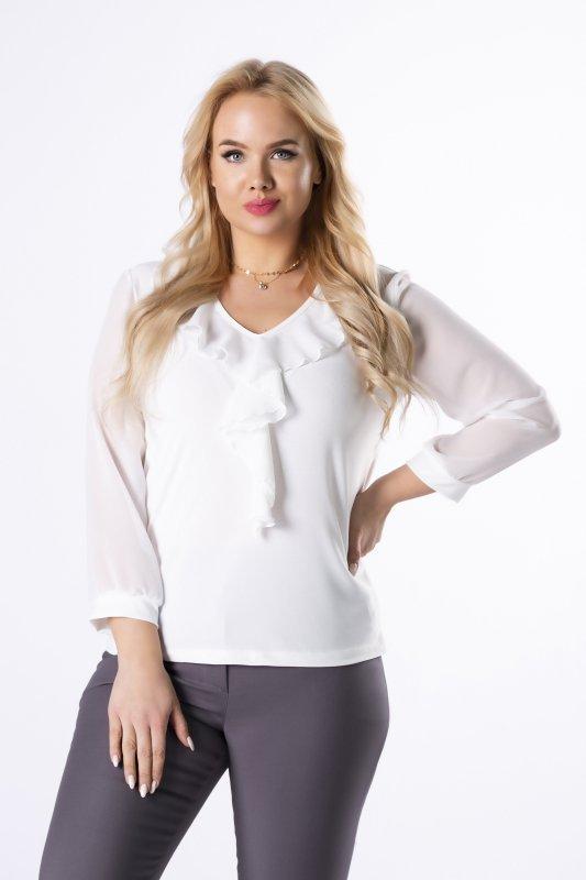 bluzka z szyfonowymi rękawami