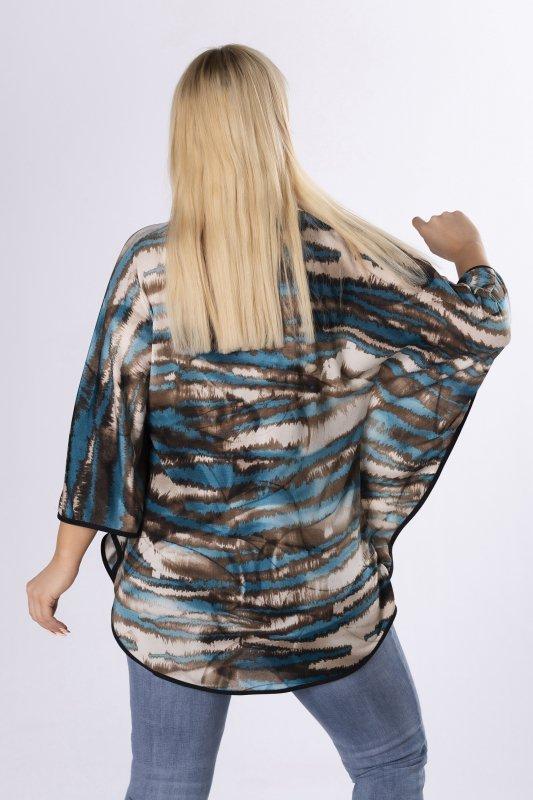 wzorzysta bluzka typu nietoperz