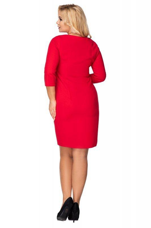 taliowana sukienka z ozdobnym suwakiem