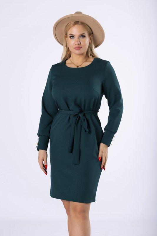 elegancka sukienka z wiązaniem w pasie