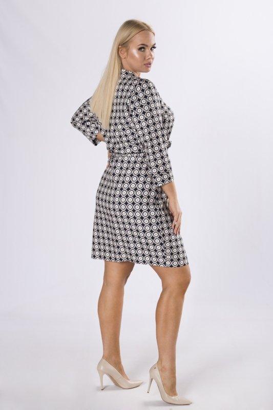 sukienka szmizjerka z wiązaniem