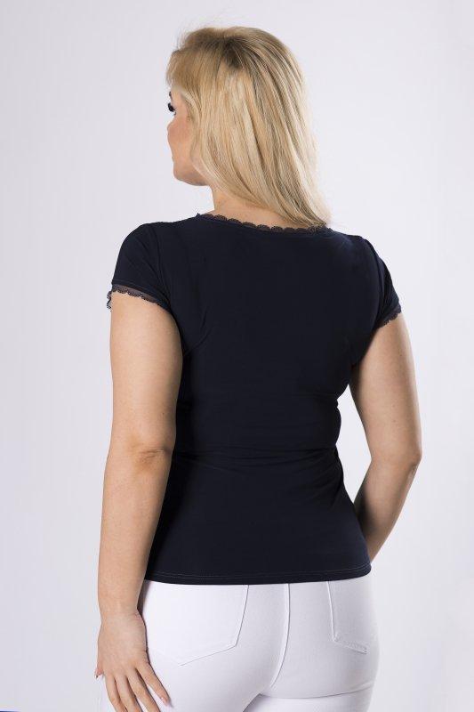 koronkowa bluzka z krótkim rękawem