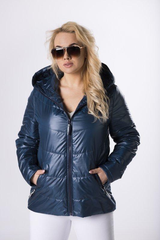 pikowana kurtka z ozdobną lamówką