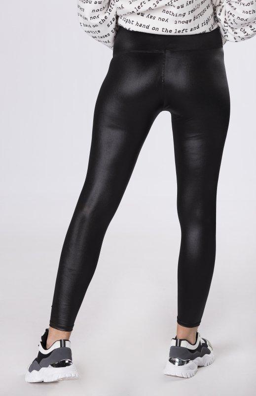 elastyczne legginsy z połyskiem
