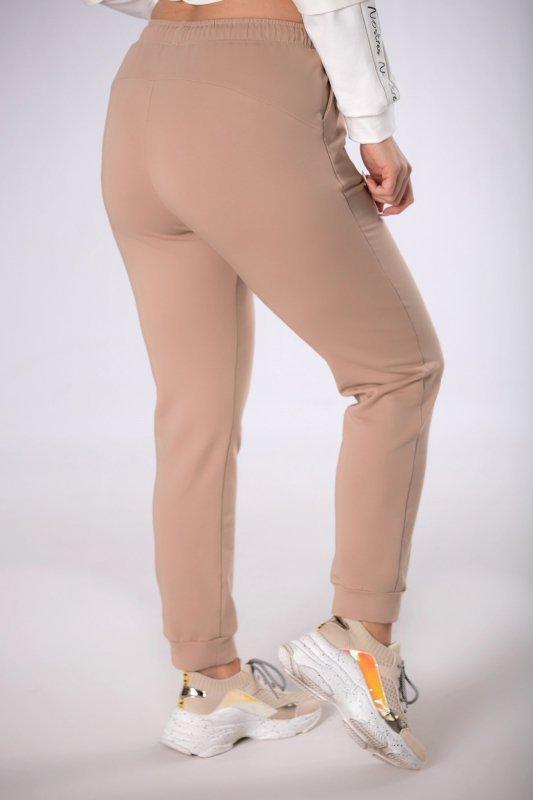 dresowe spodnie ze ściągaczem