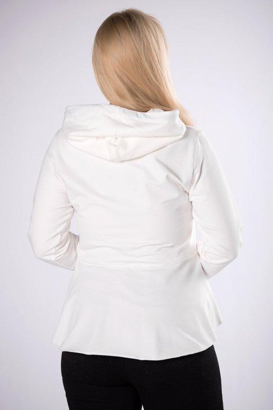 dresowa bluza z wydłużonym tyłem