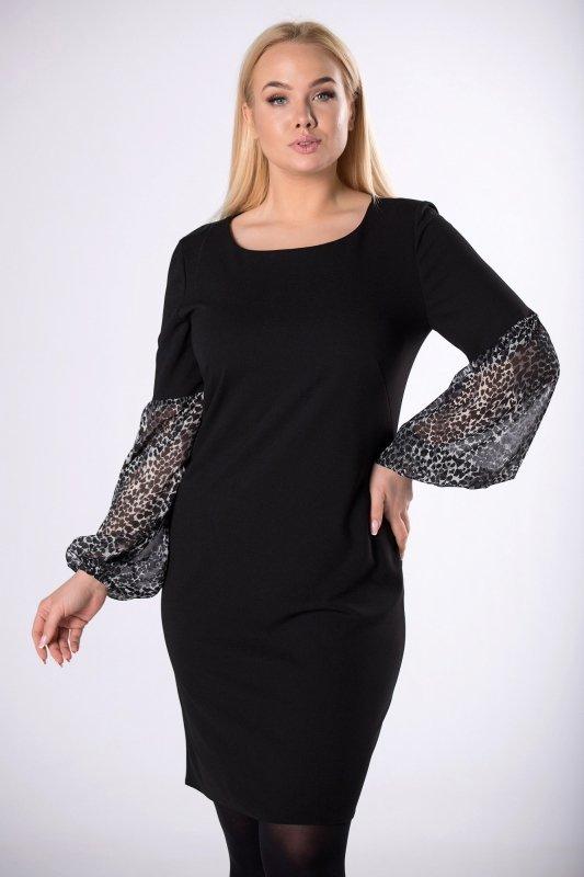 sukienka z szyfonowymi rękawami