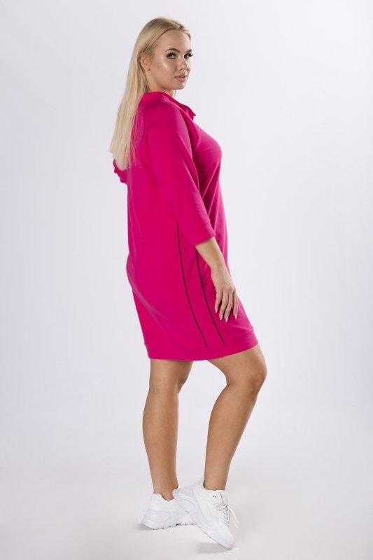 dresowa sukienka z nadrukiem