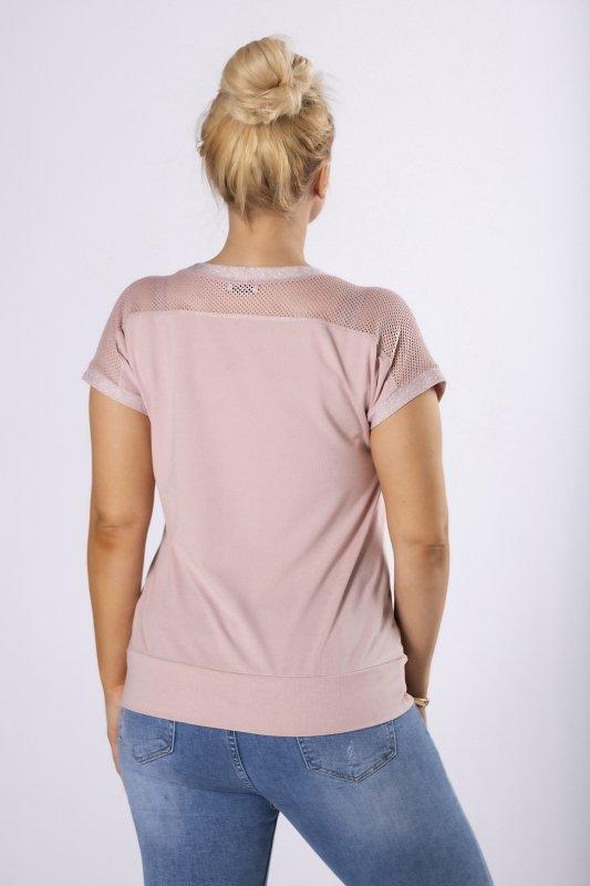 bluzka z siateczką na ramionach