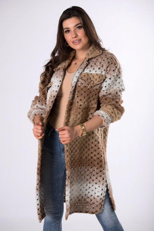 wełniany płaszcz ombre