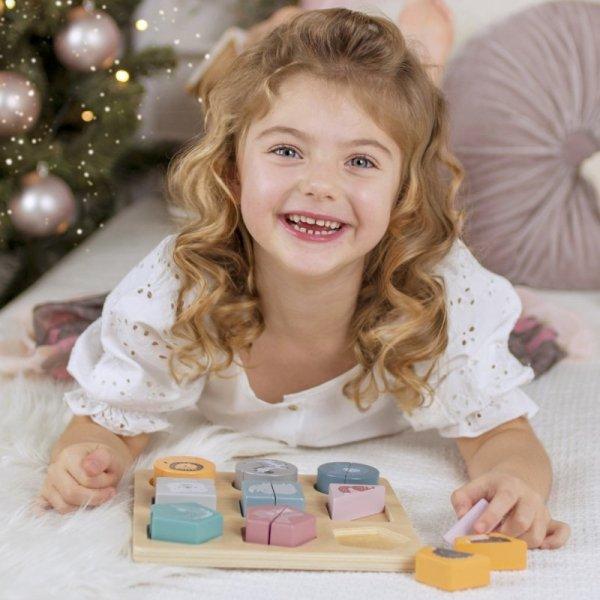 Drewniana Układanka Klocki - Zwierzątka - PolarB - Viga  Toys
