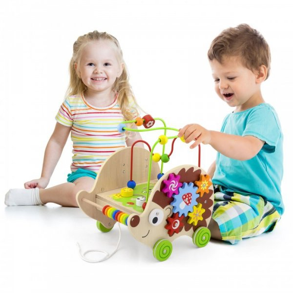 Drewniany Edukacyjny Jeż 4w1 - VIGA Toys