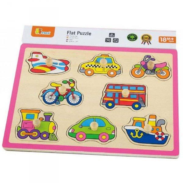 Drewniane Puzzle Układanka Pojazdy - Viga Toys