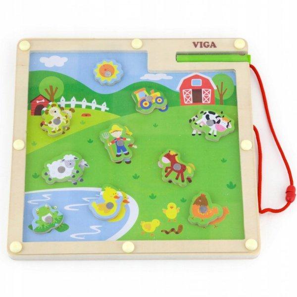 Drewniane Tablica magnetyczna Farma - Viga Toys