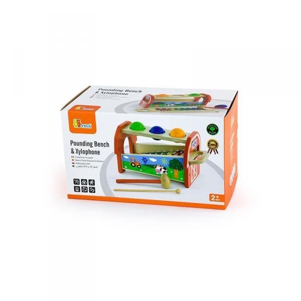 Przybijanka Cymbałki dla dzieci 2 w 1 - Viga Toys