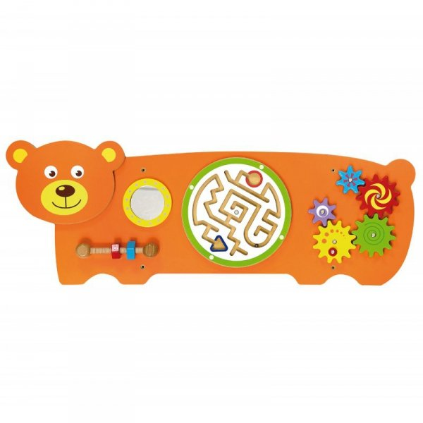 Sensoryczna tablica Manipulacyjna Miś - Viga Toys