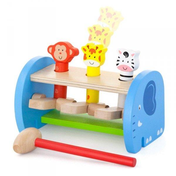 Drewniana Przebijanka Wbijanka Skaczące Zwierzątka - Viga Toys