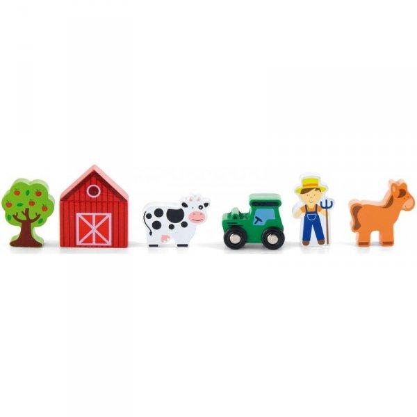 Farma 6 Figurek Drewnianych - Viga Toys