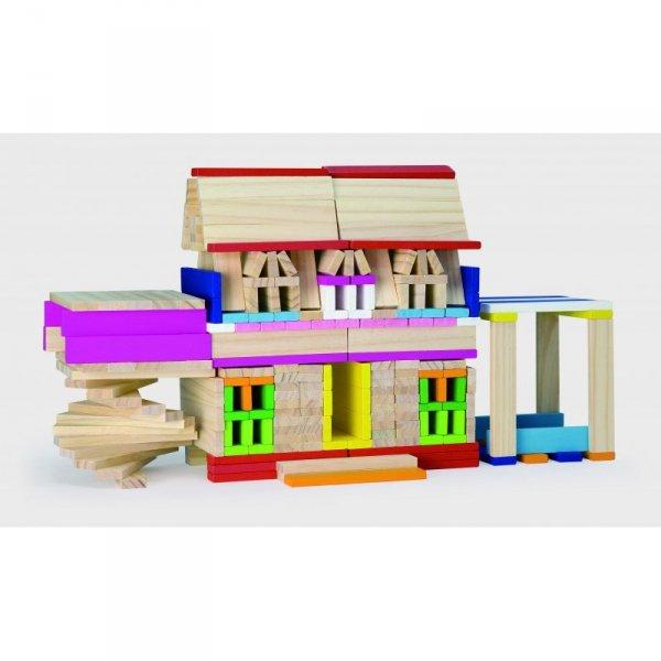 Drewniane Klocki konstrukcyjne Budynki - Viga Toys