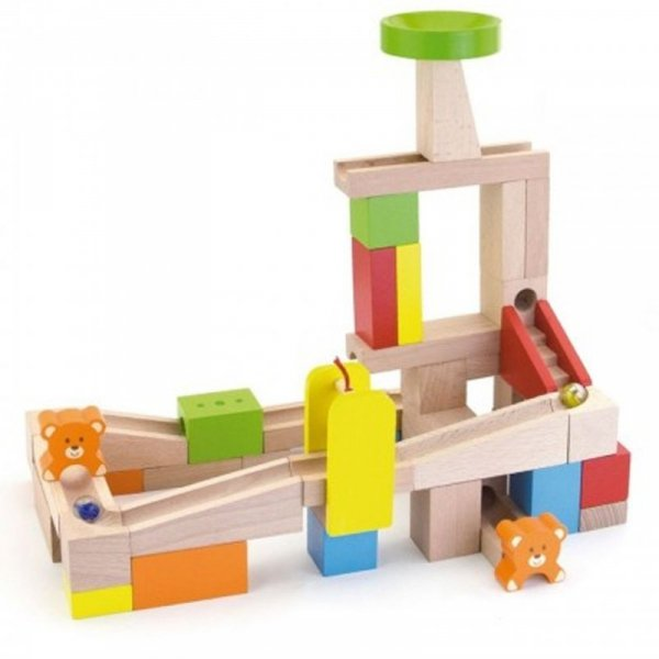 Drewniany Tor na kulki Kulodron 49 elementów - Viga Toys