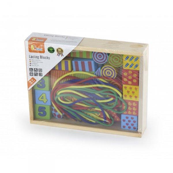 Drewniana Nawlekanka dla dzieci - Viga Toys