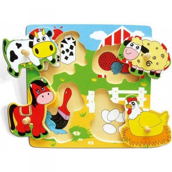 Drewniana Układanka - Farma - Viga Toys
