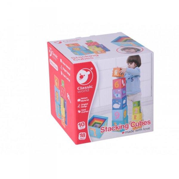 Klocki Układanka Wieża Pudełko Zabawka Edukacyjna - CLASSIC WORLD
