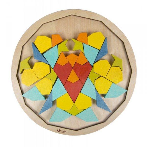 Drewniane Kolorowe Klocki Mandala - CLASSIC WORLD