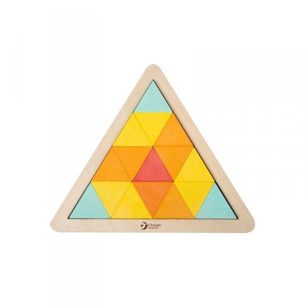 Układanka trójkąty Mozaika Klocki - Classic World