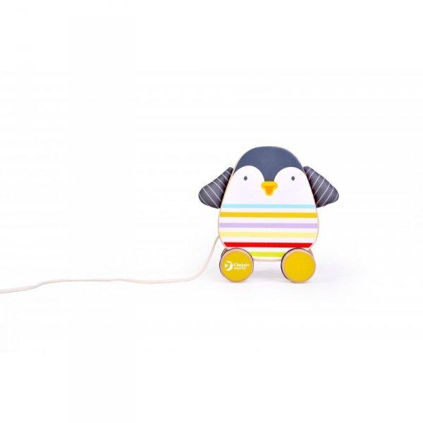 Drewniany Pingwin Do Ciągnięcia - CLASSIC WORLD