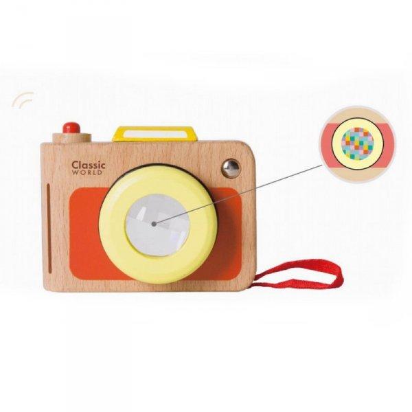 Aparat Fotograficzny  dla Dzieci -  Drewniana Zabawka z Soczewką - Classic World