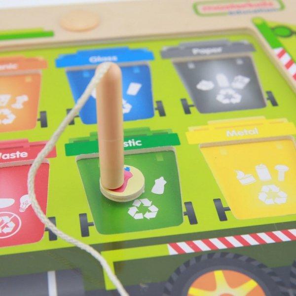Sortowanie Śmieci Segregowanie Odpadów Edukacyjna Tabliczka Dla Dzieci - Masterkidz